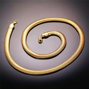 Other - New real 18k gold plated snake chain for men